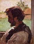 Живопись | Фредерик Базиль | Self Portrait at Saint-Sauveur, 1867