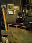 Живопись | Фредерик Базиль | Studio of the Rue Visconti, 1867