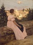 Живопись | Фредерик Базиль | The Pink Dress, 1864