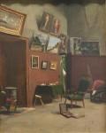 Живопись | Фредерик Базиль | The Studio on the Rue de Furstenberg, 1865