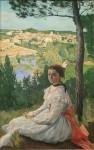 Живопись | Фредерик Базиль | View of the Village, 1868