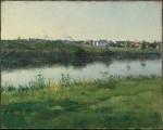 Живопись | Фредерик Портер Винтон | The River Loing at Gréz, France, 1890