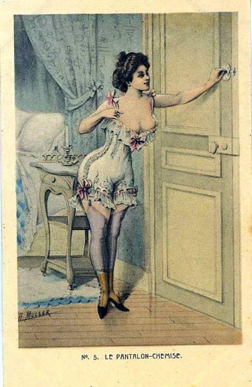 Открытки, фривольные открытки 19 века