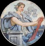 Фреска | Роберт Льюис Рид | Мудрость, 1896 (Библиотека Конгресса США)