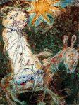 Живопись | Жан Дюбюффе | Bedouin on a donkey, 1948