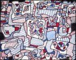Живопись | Жан Дюбюффе | Site inhabited by Objects, 1965