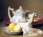 Живопись | Элизабет Пэкстон | Still Life with Teapot and Lemons