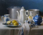 Живопись | Элизабет Пэкстон | Kitchen Still Life – China, Pewter and Lemon