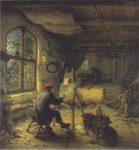 Живопись | Адриан ван Остаде | Живописец в своей мастерской, 1663