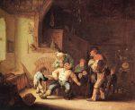 Живопись | Адриан ван Остаде | Barber Extracting a Tooth, 1630-35