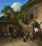 Живопись | Адриан ван Остаде | The Cottage Dooryard, 1673