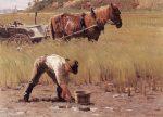 Живопись | Джон Эннекинг | Duxbury Clam Digger, 1892