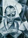 Живопись | Кристиан Шад | Portrait de Walter Serner, 1916