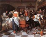 Живопись | Ян Стен | Celebrating the Birth, 1664