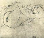 Графика | Густав Климт | Эскиз к картине Даная