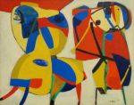 Живопись | Карел Аппел | Horse and Flute Player, 1951