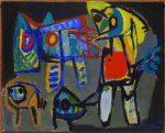 Живопись | Карел Аппел | Men and Animals, 1952