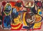 Живопись | Карел Аппел | People, Birds and Sun, 1954