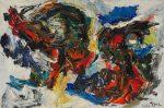Живопись | Карел Аппел | Two Large Heads, 1960