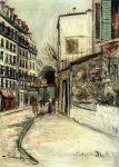 Живопись | Морис Утрилло | Rue Lepic in Montmartre, 1933