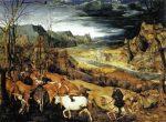 Живопись | Питер Брейгель Старший | Возвращение Стада, 1565