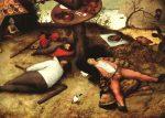 Живопись | Питер Брейгель Старший | Страна лентяев, 1567