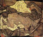 Живопись | Эгон Шиле | Lovers Man and Woman, 1914
