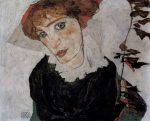 Живопись | Эгон Шиле | Portrait of Valerie Neuzil, 1912