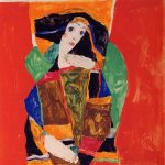 Живопись | Эгон Шиле | Portrait of a Woman, 1912