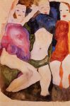 Живопись | Эгон Шиле | Three Girls, 1911