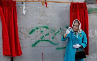 Новую работу Бэнкси в Вифлееме «открыла» королева Великобритании