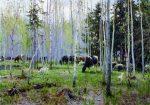 Живопись | Алексей Грицай | Первая зелень. Стадо, 1981