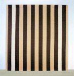 Живопись | Даниель Бюрен | Peinture acrylique blanche sur tissu rayé blanc et marron, 1972