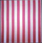 Живопись | Даниель Бюрен | Peinture acrylique blanche sur tissu rayé blanc et rouge, 1970