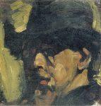 Живопись_Тео ван Дусбург_Self portrait with hat, 1909