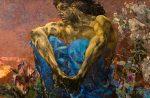 Живопись | Михаил Врубель | Демон сидящий, 1890