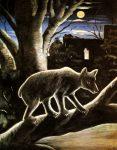 Живопись | Нико Пиросмани | Медведь в лунную ночь