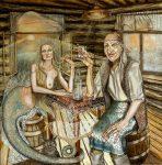 Живопись | Юлия Бружайте | Водка, или хочу быть царевной морской