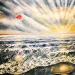 Живопись | Юлия Бружайте | Красная луна