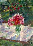 Живопись | Евгений Антонов | Букет цветов на фоне сада, 1997