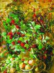 Живопись | Евгений Антонов | Натюрморт с калиной и яблоками, 1994