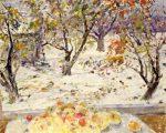 Живопись | Евгений Антонов | Первый снег - последние яблоки, 1984