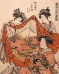 Графика | Исода Корюсай из серии «Образцы новогодних нарядов для женщин»