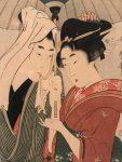 Графика | Китагава Утамаро «Один зонт на двоих»