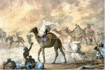 George Francis Lyon. A sand wind on the desert. XIX в. Libya. Pictures From History