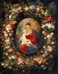 Живопись | Питер Пауль Рубенс и Ян Брейгель Старший | Богородица, младенец Иисус и ангелы в цветочной гирлянде, ок. 1616-17
