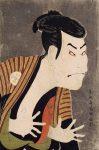 Гравюра | Кацусика Хокусай | Тосюсай Сяраку. Актёр театра кабуки Отани Онидзи в роли Якко Эдобэя, 1794. Из серии «Портреты актёров трёх театров Эдо»