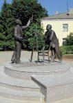 Скульптура | Алексей Леонов | Памятник К.Э. Циолковскому и С.П. Королёву в Калуге. 2011, бронза