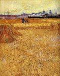 Живопись | Винсент ван Гог | Арль: вид с пшеничных полей, 1888
