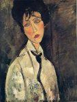 Живопись | Амедео Модильяни | Дама с черным галстуком. 1917 год. Холст, масло